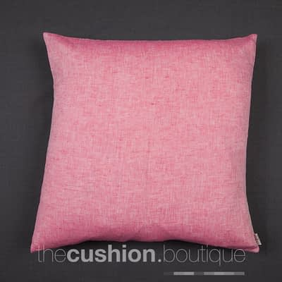 Pop of Chambray Pink with linen cushion