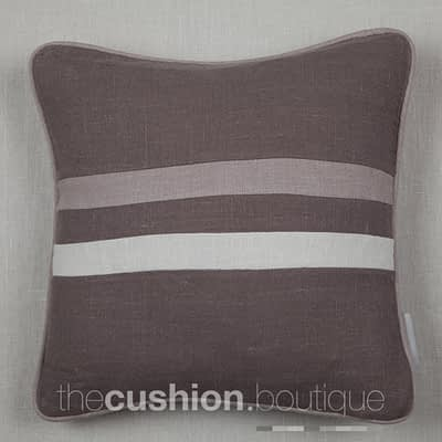 Contemporary designed Granite Stonewashed Linen handmade cushion